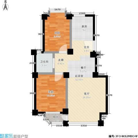 哈佛映像2室0厅1卫0厨64.36㎡户型图