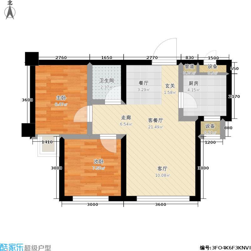 福佳新城65平方米户型