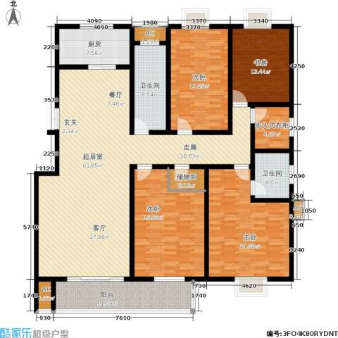昌明伴山苑4室0厅2卫1厨197.72㎡户型图