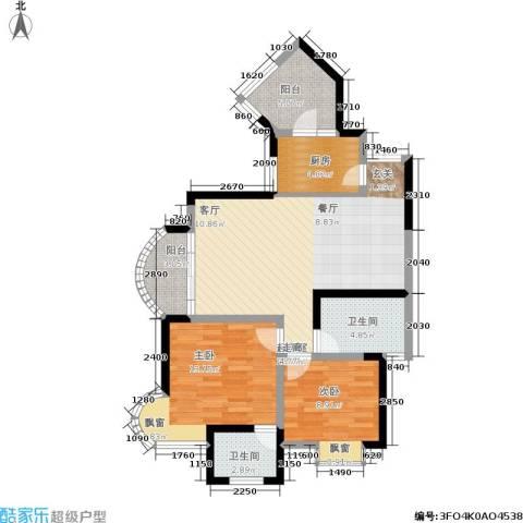 天工太阳岛2室0厅2卫1厨100.00㎡户型图
