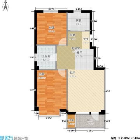 嘉恒国际2室0厅1卫1厨75.00㎡户型图