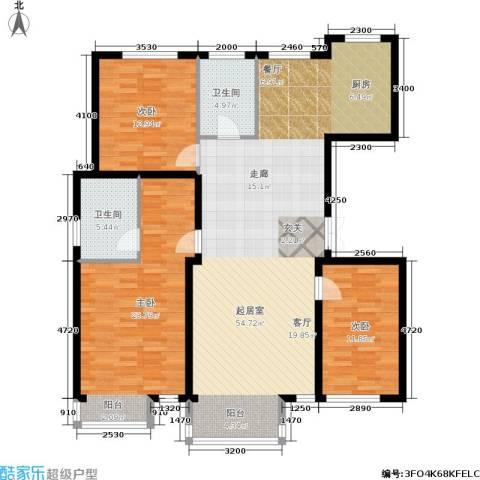 阳光观海苑3室0厅2卫0厨126.00㎡户型图