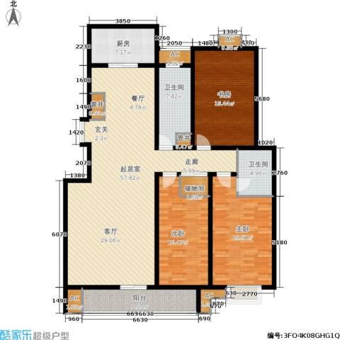 昌明伴山苑3室0厅2卫1厨165.52㎡户型图