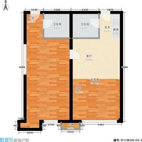 中齐未来城1室0厅2卫0厨94.00㎡户型图