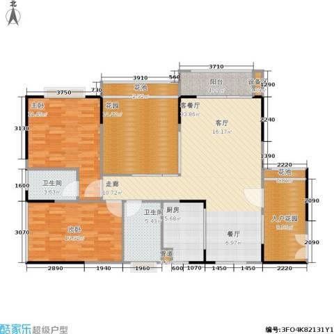 新世纪领居2室1厅2卫1厨146.00㎡户型图