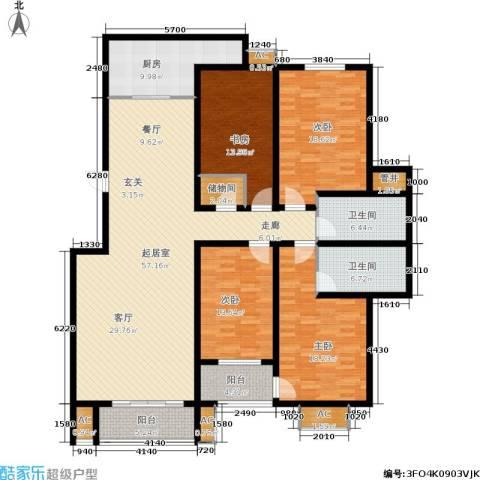 昌明伴山苑4室0厅2卫1厨184.00㎡户型图