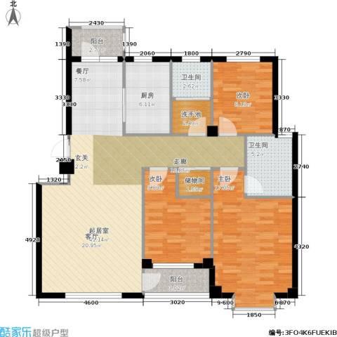 嘉恒国际3室0厅2卫1厨139.00㎡户型图