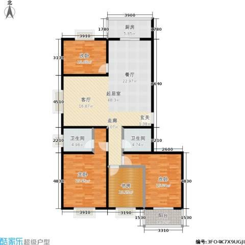滨河27栋4室0厅2卫1厨152.00㎡户型图
