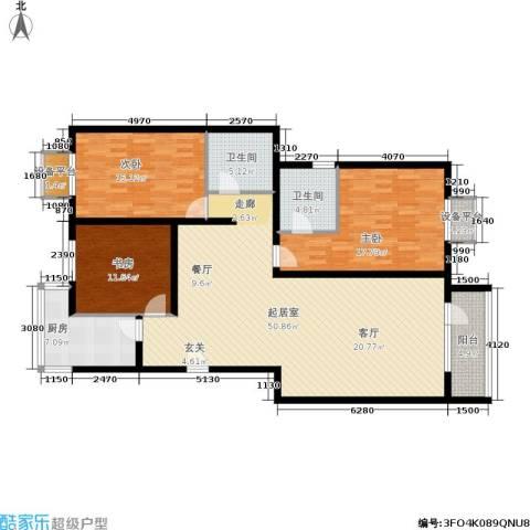 昌明伴山苑3室0厅2卫1厨135.00㎡户型图