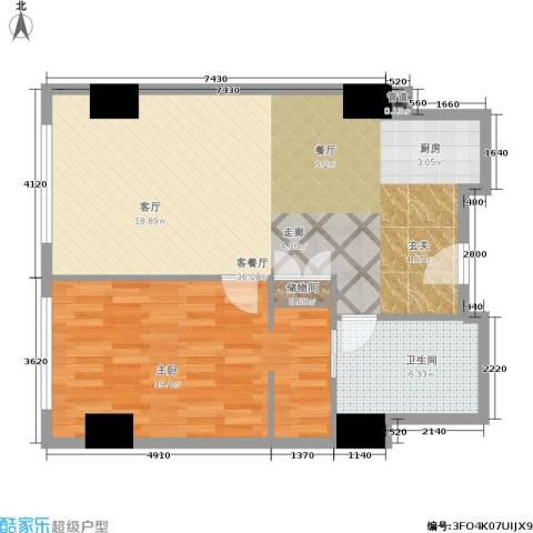 珠江时代广场1室1厅1卫0厨103.00㎡户型图