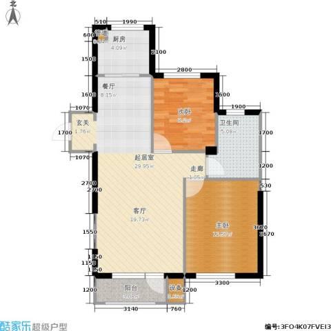 宅语原2室0厅1卫1厨87.00㎡户型图