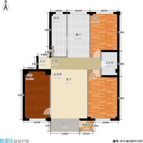 华兴尚园3室0厅1卫1厨151.00㎡户型图