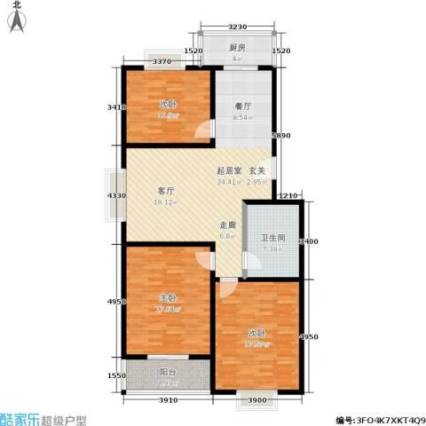 滨河27栋3室0厅1卫1厨115.00㎡户型图