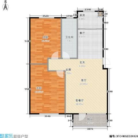 汇益华庭2室1厅1卫1厨98.00㎡户型图