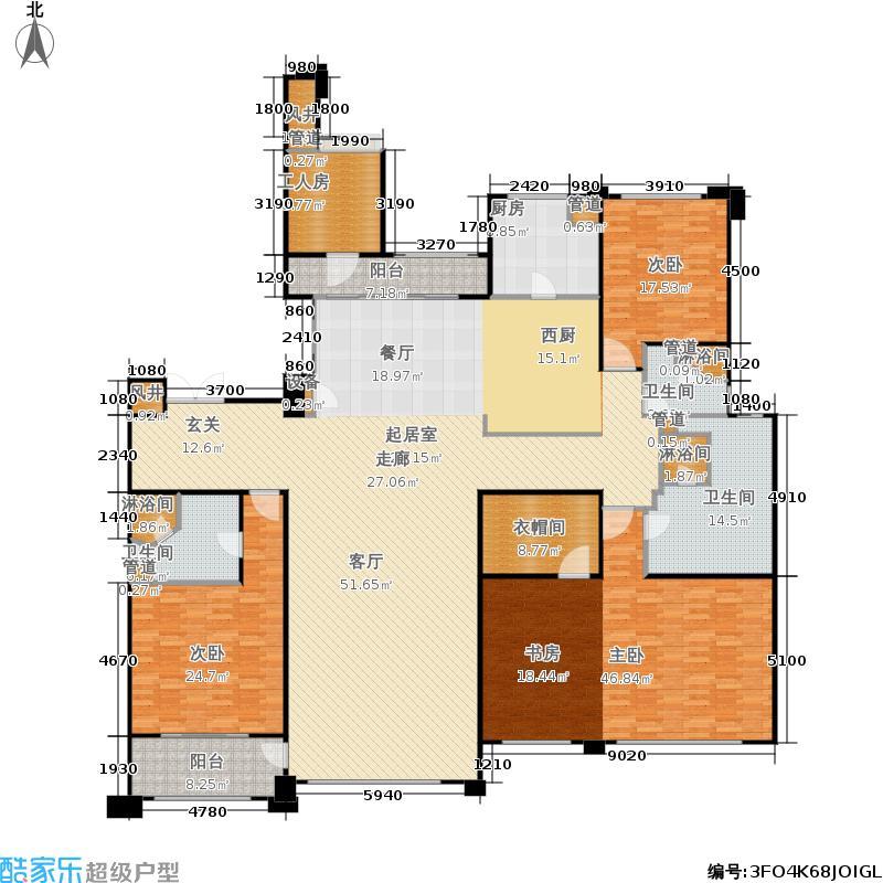 悦府・保利海德公馆三期262.85㎡四室两厅三卫户型4室2厅3卫