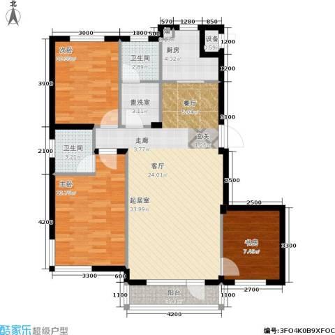 生辉第一城3室0厅2卫1厨113.00㎡户型图