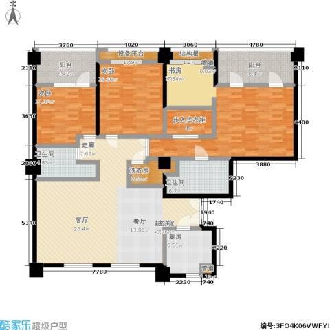 嘉业国际城3室0厅2卫1厨227.00㎡户型图