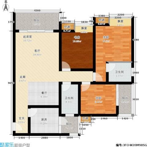 金杜洋光3室0厅2卫1厨141.00㎡户型图