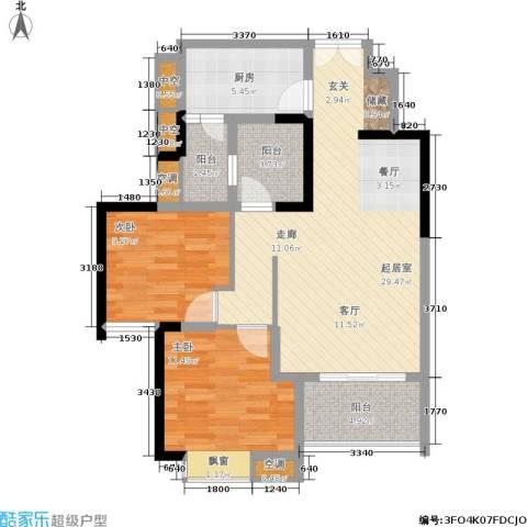 天工太阳岛2室0厅0卫1厨101.00㎡户型图