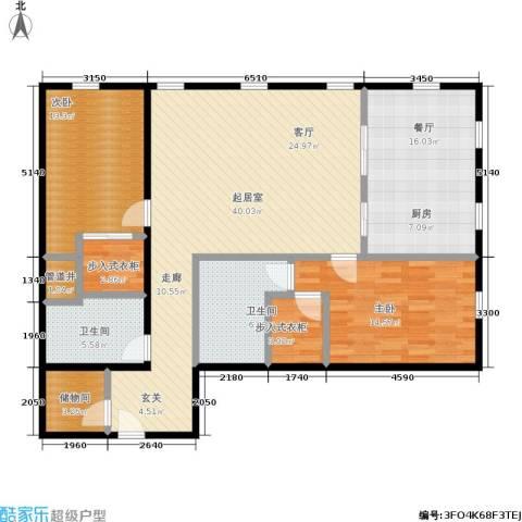 万国城moma2室1厅2卫0厨148.00㎡户型图