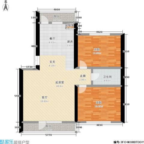 香岛丽湾2室0厅1卫0厨134.00㎡户型图