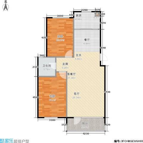 汇益华庭2室1厅1卫1厨93.00㎡户型图