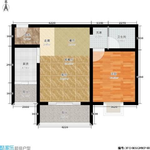 橄榄湾1室1厅1卫1厨68.00㎡户型图