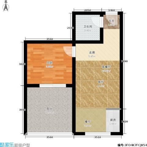 橄榄湾1室1厅1卫0厨56.00㎡户型图