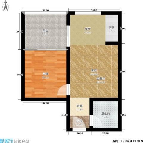 橄榄湾1室1厅1卫0厨51.00㎡户型图