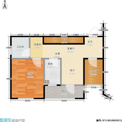 中庚香海上峰1室1厅1卫1厨47.00㎡户型图