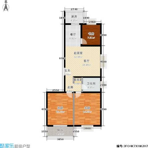 滨河27栋3室0厅1卫1厨109.00㎡户型图