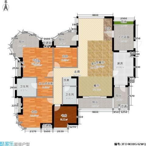 南海颐景园4室1厅2卫1厨210.00㎡户型图