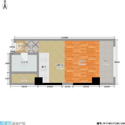 珠江时代广场1卫0厨55.00㎡户型图
