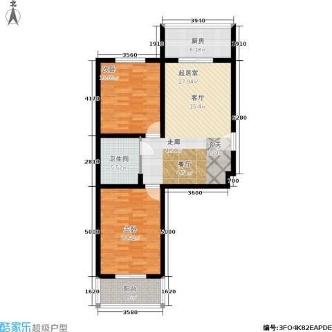 幸福家园2室0厅1卫1厨104.00㎡户型图