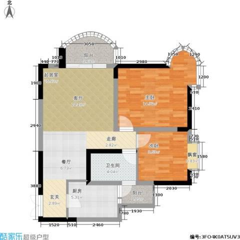 天工太阳岛2室0厅1卫1厨94.00㎡户型图