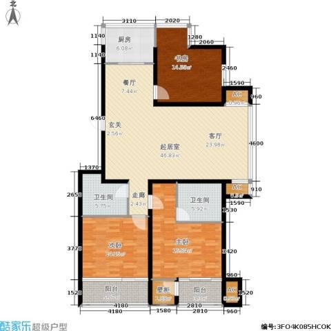 昌明伴山苑3室0厅2卫1厨140.00㎡户型图