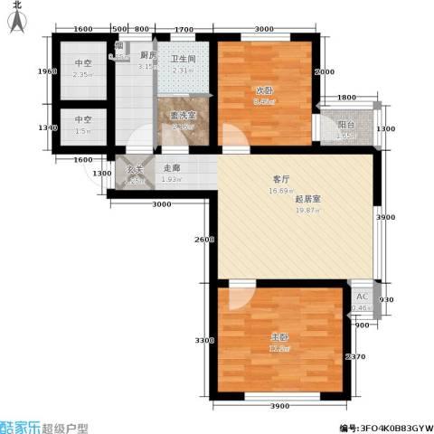 生辉第一城2室0厅1卫1厨70.00㎡户型图