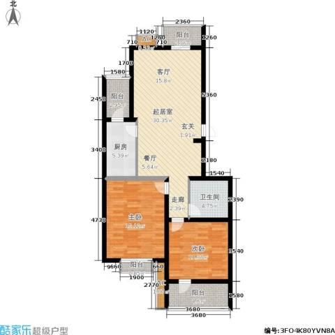 昌明伴山苑2室0厅1卫1厨92.00㎡户型图