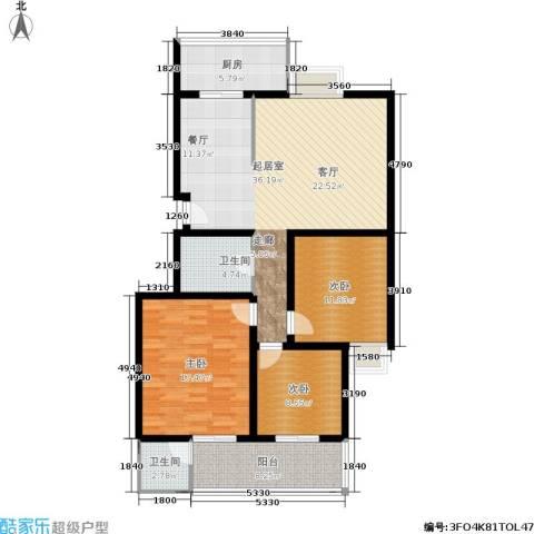 金玉人家3室0厅2卫1厨121.00㎡户型图