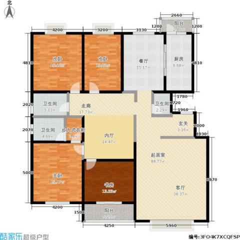 银座花园4室0厅3卫1厨205.59㎡户型图