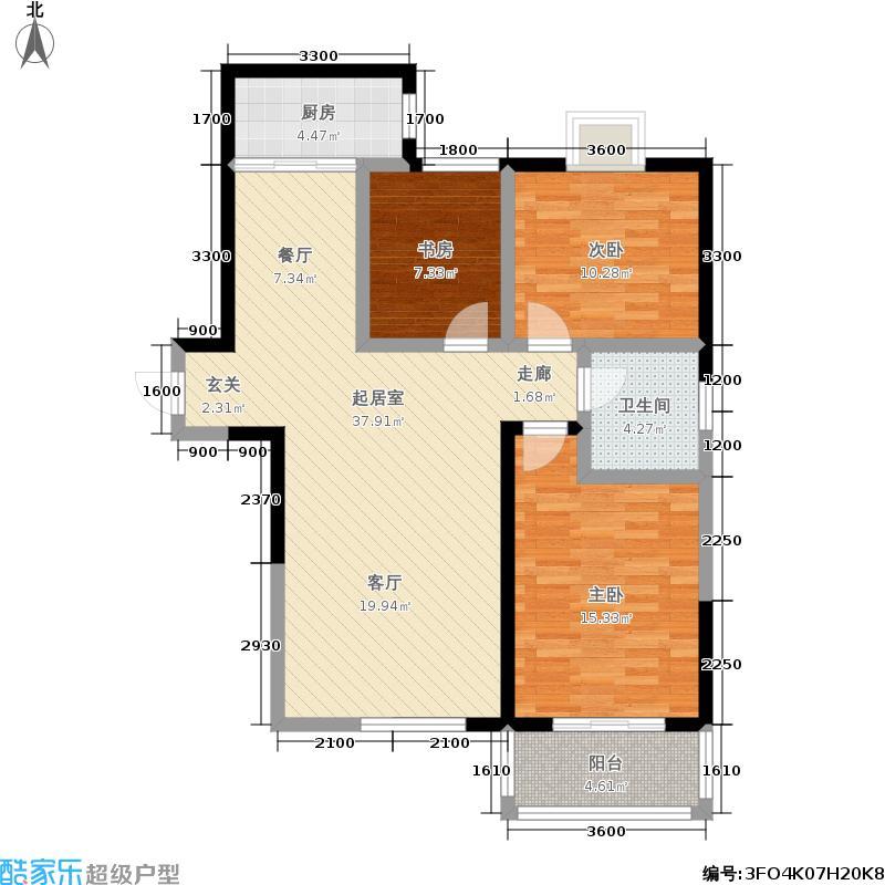华宇上领国际公寓116.00㎡1#B户型