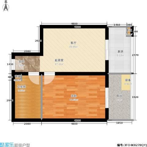 金玉人家1室0厅1卫1厨48.29㎡户型图