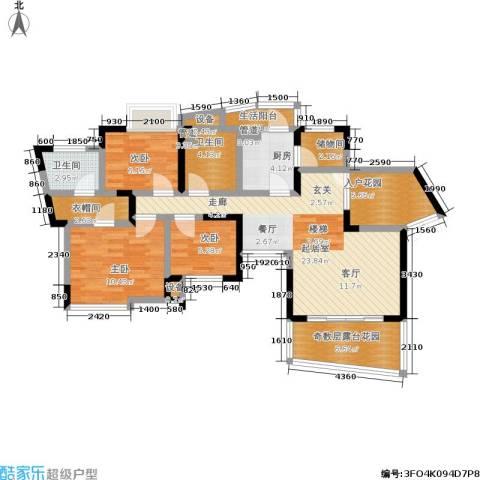 复地上城3室0厅2卫1厨93.00㎡户型图