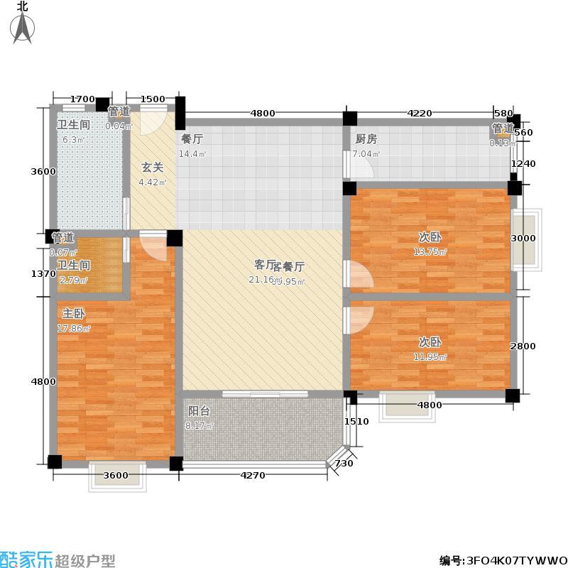 仁寿雅居102.00㎡房型户型
