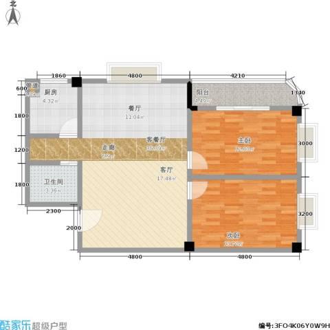 仁寿雅居2室1厅1卫1厨104.00㎡户型图