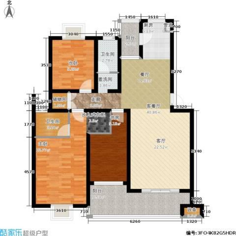 湘翰御舍3室1厅2卫0厨117.00㎡户型图
