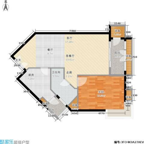 陶然居1室1厅1卫1厨83.00㎡户型图