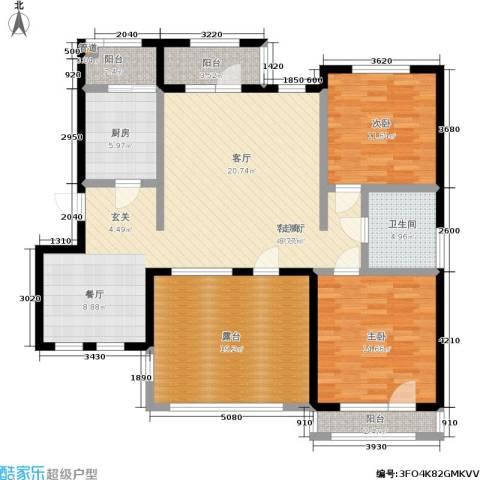 壹品漫谷2室1厅1卫1厨155.00㎡户型图