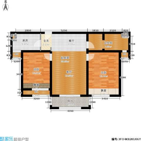 金色家园2室0厅1卫1厨99.00㎡户型图