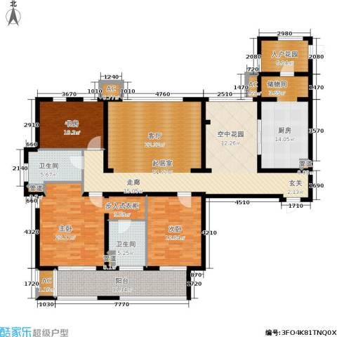 金色家园3室0厅2卫1厨167.00㎡户型图